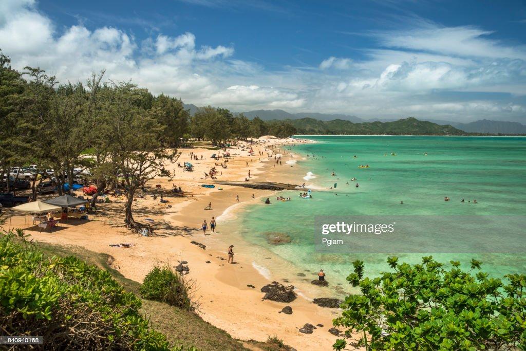 Kailua Beach Park Hawaii High Res Stock Photo Getty Images