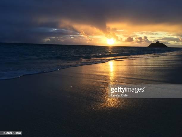 kailua beach park, kailua, hi - kailua beach stock photos and pictures