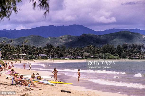kailua beach - kailua stock pictures, royalty-free photos & images