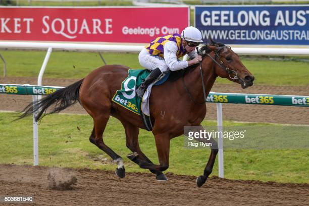Kailua ridden by Daniel Stackhouse wins the 13th Beach Golf Club 3YOMaiden Plate at Geelong Synthetic Racecourse on June 30 2017 in Geelong Australia