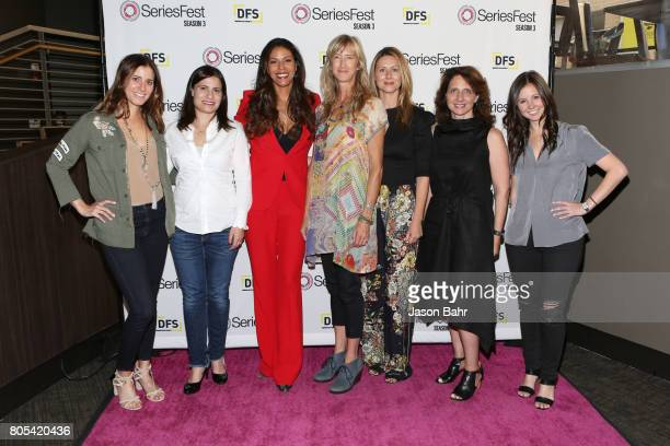 Kaily Smith Westbrook Geneva Wasserman Merle Dandridge Wendy Haines Jamie Jackson Michele Ganeless and Randi Kleiner arrive to the Women In...