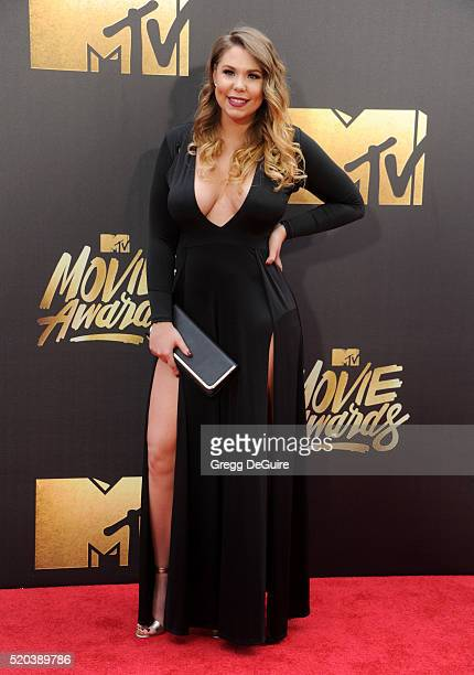 Kailyn Lowry arrives at the 2016 MTV Movie Awards at Warner Bros Studios on April 9 2016 in Burbank California