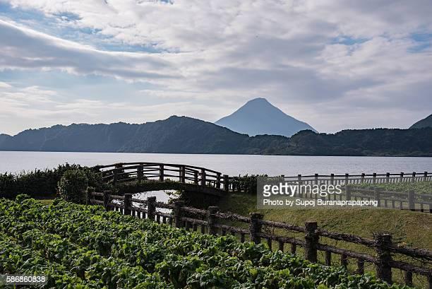 kaimondake volcano - 指宿市 ストックフォトと画像