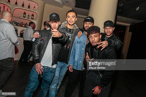 Kaine Ofoeme, Aika Jones, Ben Sharples, Delliele Ankrah and Michael Welch, members of Mic Lowry band pose on backstage during the 'Purpose Tour'...