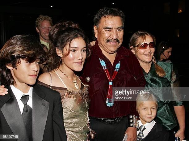 Kainoa Kilcher actress Q'Orianka Kilcher Speaker 20th Navajo National Council Lawrence T Morgan Saskia Kilcher and Xihuaru Kilcher arrive at the New...