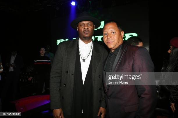 Kainon Jasper and Keenan Towns attend the New Year's Eve Late Night Party With Snoop Dogg at Highline Ballroom on December 31 2018 in New York City