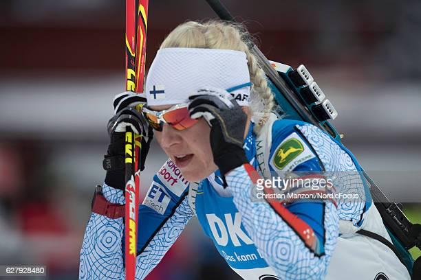Kaisa Maekaeraeinen of Finland competes during the 10 km women's pursuit on December 4, 2016 in Ostersund, Sweden.