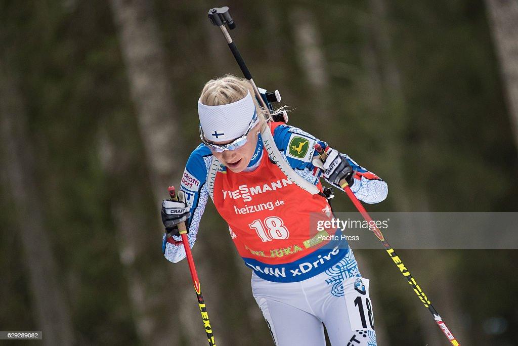Kaisa Makarainen of Finland on the course during women 7,5... : Nachrichtenfoto