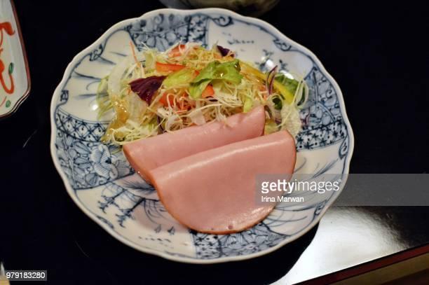 Kaiseki Breakfast at Ryokan -  ham salad