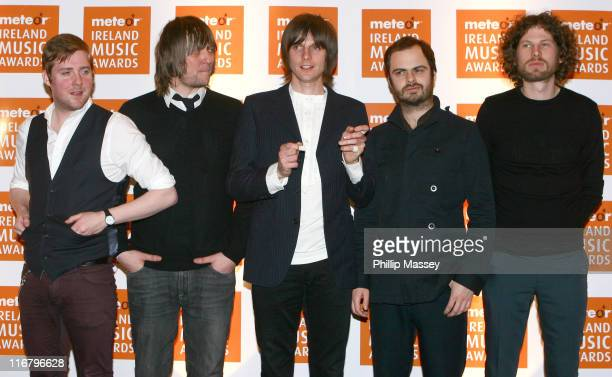 Kaiser Chiefs during Meteor Ireland Music Awards 2007 Press Room at The Point in Dublin Ireland