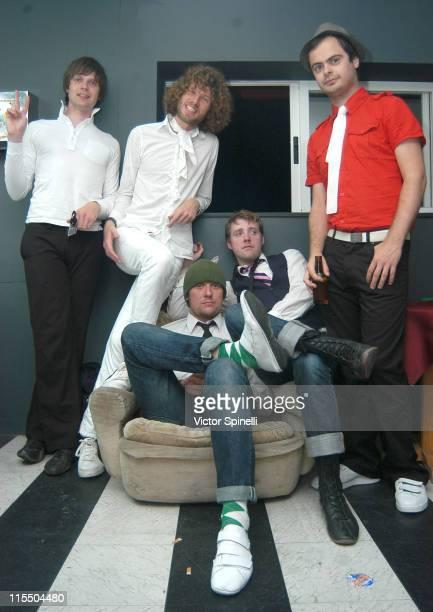 Kaiser Chiefs Nick Hodgson Simon Rix Andrew 'Whitey' White Ricky Wilson and Nick 'Peanut' Baines