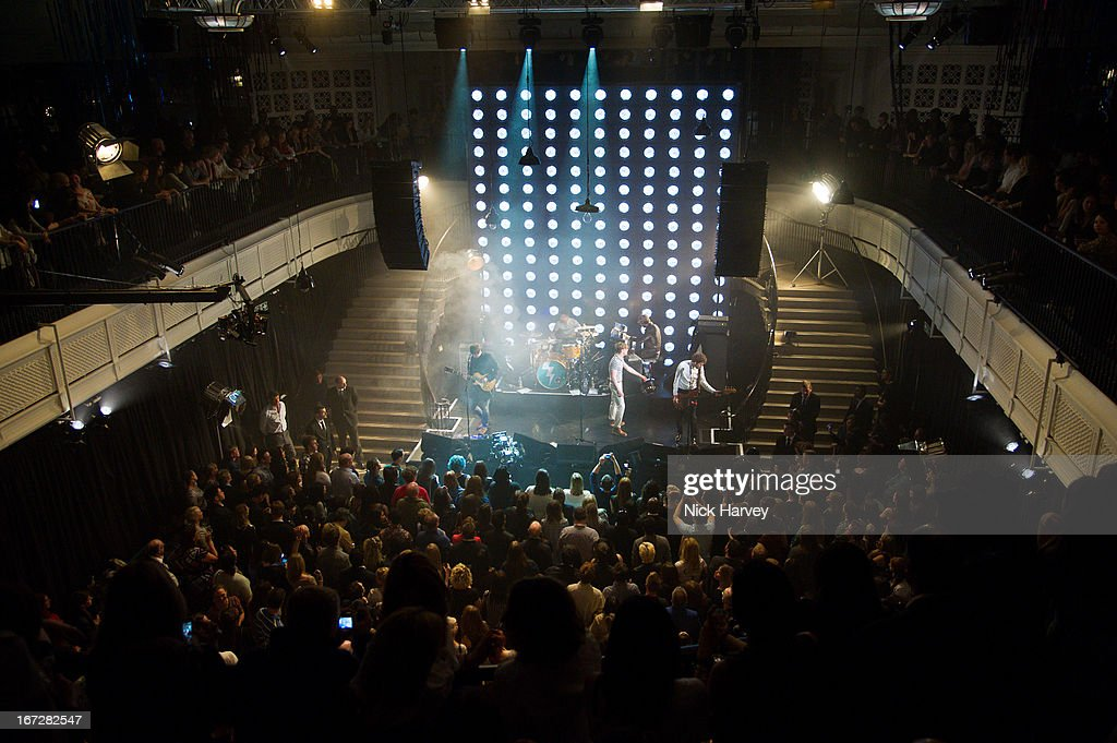 Kaiser Chiefs perform at Burberry Live at 121 Regent Street at Burberry on April 23, 2013 in London, England.