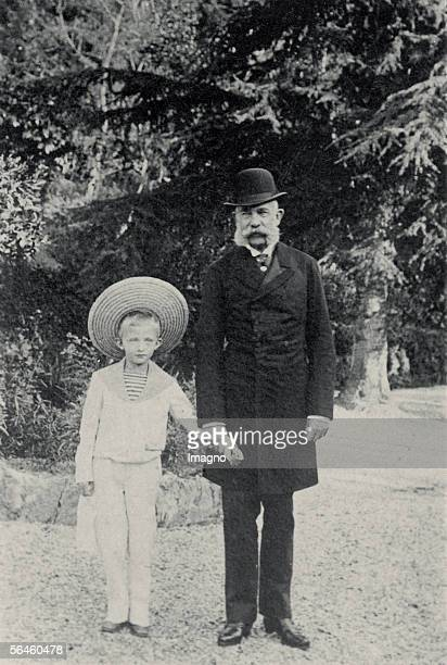 Kaiser Franz Joseph I. With archduke Karl, later emperor of Austria in Cannes, France. Photography taken by archduchess Maria Josepha. 1894. [Kaiser...