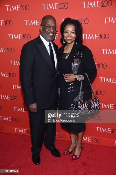 Kaiser Permanente CEO Bernard J Tyson and Denise BradleyTyson attend the 2017 Time 100 Gala at Jazz at Lincoln Center on April 25 2017 in New York...