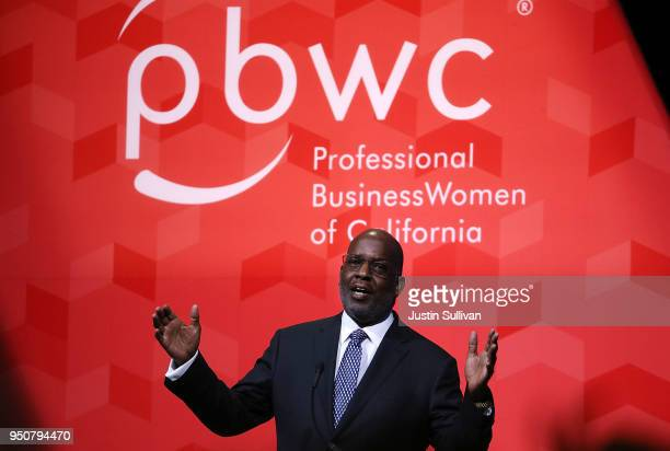 Kaiser Permanente chairman and CEO Bernard Tyson speaks during the 29th annual Conference of the Professional Businesswomen of California on April 24...