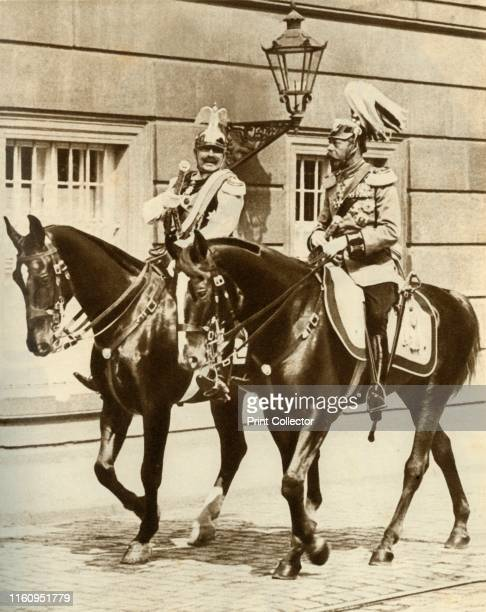 Kaiser Wilhelm II and King George V in Berlin, Germany . First cousins German Emperor Wilhelm II and George V , King of the United Kingdom, riding...
