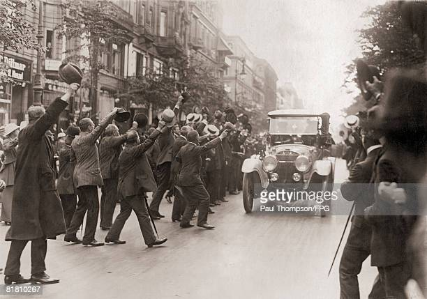 Kaiser Wilhelm II and the royal family arrive in Berlin from Potsdam at the start of World War I 28th July 1914