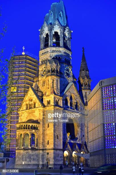 kaiser wilhelm memorial church - memorial kaiser wilhelm - fotografias e filmes do acervo