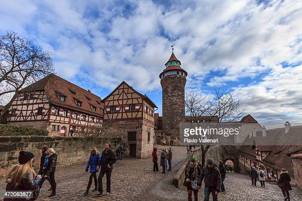 kaiserburg, nuremberg - nuremberg stock photos and pictures
