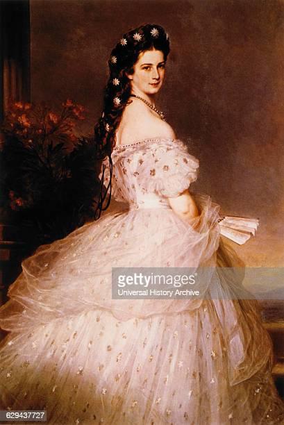 Kaiserin Elisabeth , Painting by Franz Xavier Winterhalter, 1865.