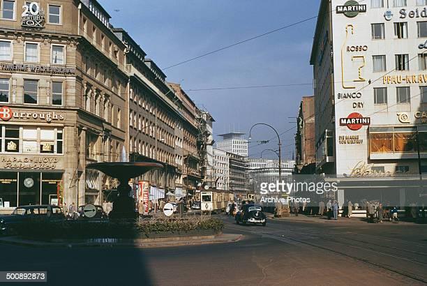 Kaiserplatz in Frankfurt Germany 16th October 1954