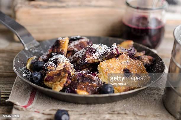 Kaiserschmarren with blueberries