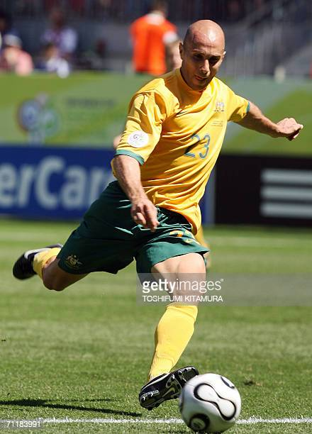 Kaiserslautern, GERMANY: Australian midfielder Marco Bresciano is seen against Japan in their first round Group F World Cup football match at...