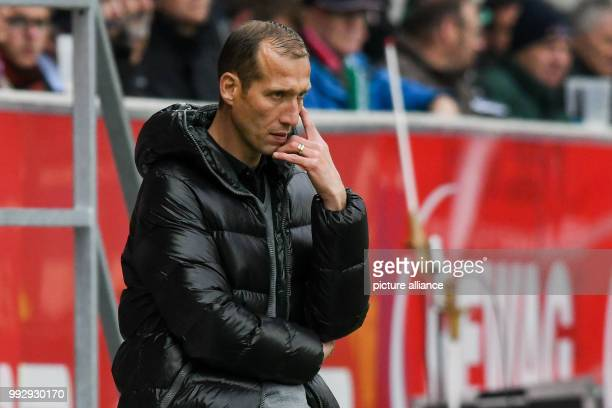 Kaiserslautern manager Jeff Strasser on the touchline during the 2nd Bundesliga football match between Jahn Regensburg and 1 FC Kaiserslautern in the...
