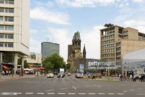 kaiser-wilhelm-gedaechtniskirche church, berlin, germany - kurfürstendamm stock pictures, royalty-free photos & images