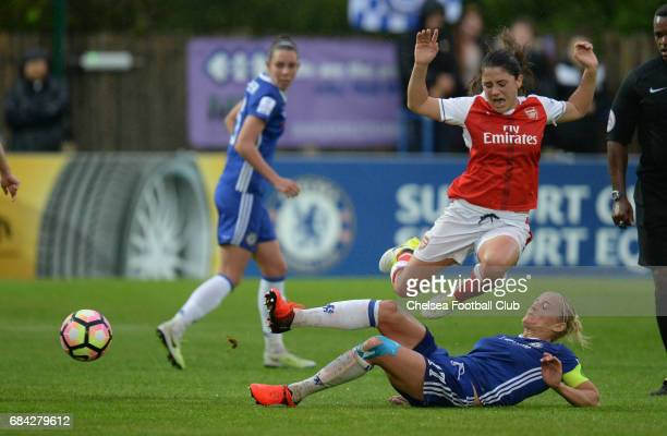Kaite Chapman of Chelsea during a WSL 1 match between Chelsea Ladies FC and Arsenal Ladies FC on May 17 2017 in Staines England