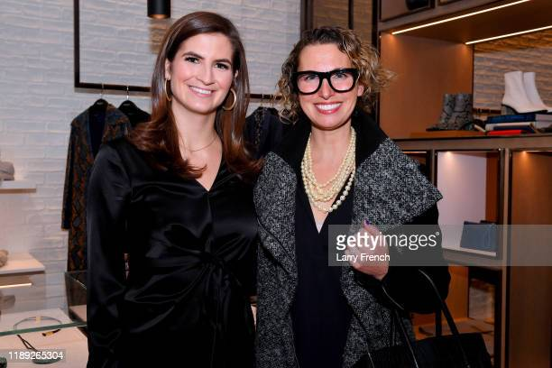 Kaitlan Collins and Jessica Nigro attend the Lafayette 148 New York American University event at Tysons Galleria on November 21 2019 in Mclean...