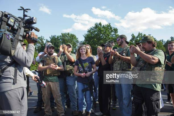 Kaitlin Bennett saw left wing protesters approaching and tried to open a dialog with counter protesters and students of the university Kaitlin...