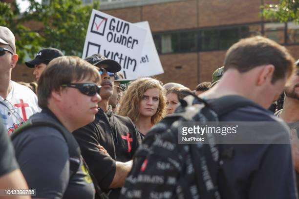 Kaitlin Bennett's Open Carry Rally was halted and ultimately diverted after left wing protesters blocked their pathKaitlin Bennett a former student...