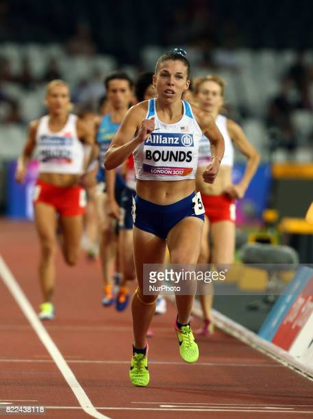 Kaitlin Bounds of USA compete Women's 1500m T20 Final during World Para Athletics Championships Day Three at London Stadium in London on July 17 2017
