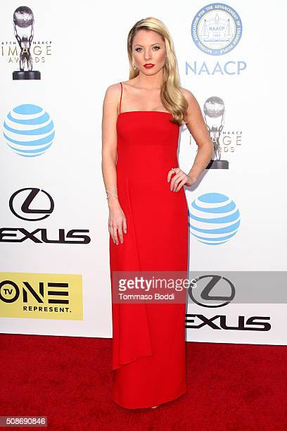 Kaitlin Doubleday attends the 47th NAACP Image Awards held at Pasadena Civic Auditorium on February 5 2016 in Pasadena California