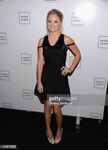 Kaitlin Doubleday attends the Herve Leger by Max Azria Spring 2012 fashion show during MercedesBenz Fashion Week at The Theater at Lincoln Center on...