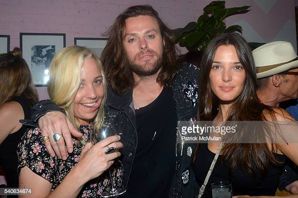 Kaitlin Duffy Christian Lonas and Angela Bellotte attend the Lower East Studios summer party at The Lucky Bee Hosted by Steve Caputo Rupert Noffs and...