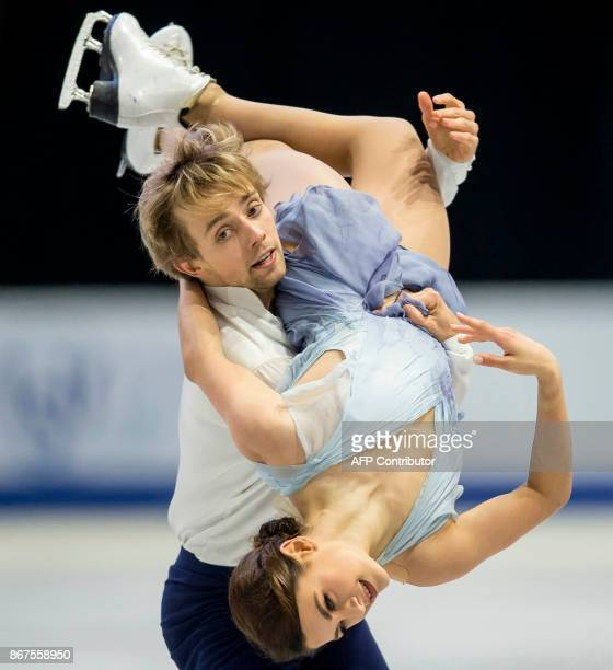 Kaitlin Hawayek and Jean-Luc Baker of the US perform their free dance in the dance competition at the 2017 Skate Canada International ISU Grand Prix...