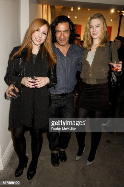 """Kaitlin Lechich Eric Allouche and Sylvia Zarski attend Opera Gallery presents Kid Zoom's This City Will Eat Me Alive"""" at Opera Gallery on December..."""