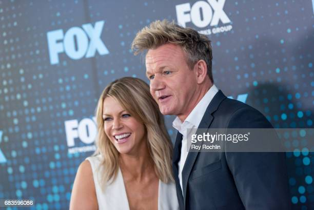 Kaitlin Olson and Gordon Ramsey attends the 2017 FOX Upfront at Wollman Rink Central Park on May 15 2017 in New York City