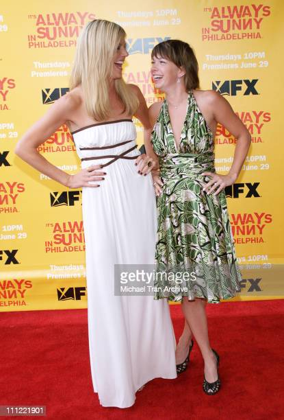 """Kaitlin Olson and Mary Elizabeth Ellis during """"It's Always Sunny in Philadelphia"""" Season Two Premiere - Arrivals at Harmony Gold Theater in Los..."""