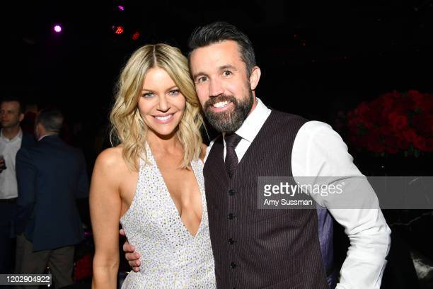 Kaitlin Olson and Rob McElhenney attend the after the premiere of party for the premiere of Apple TV's Mythic Quest Raven's Banquet at Sunset Room...