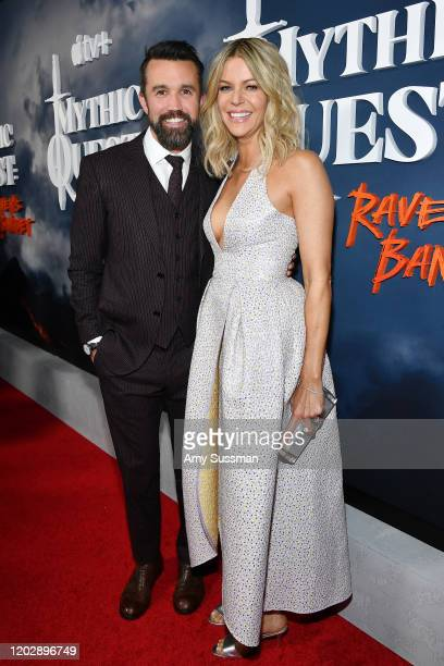 Kaitlin Olson and Rob McElhenney attend the premiere of Apple TV's Mythic Quest Raven's Banquet at The Cinerama Dome on January 29 2020 in Los...
