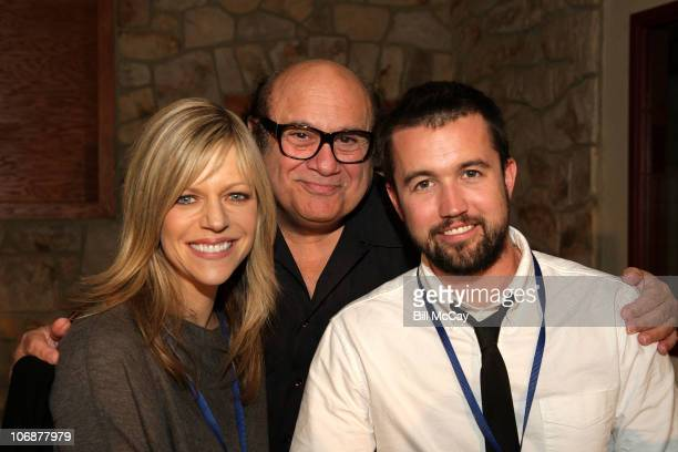 Kaitlin Olson Danny DeVito and Rob McElhenney attend the 2010 'Shoot In Philadelphia' Press Conference on November 14 2010 in Aston Pennsylvania