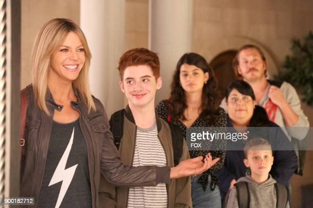 Kaitlin Olson Thomas Barbusca Sofia BlackDElia Carla Jimenez Jack Stanton and Scott MacArthur in the 'The Lovers' episode of THE MICK airing Tuesday...