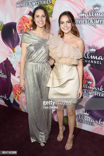 Kaitlin Riley and Bailee Madison attend Hallmark Channel and Hallmark Movies and Mysteries Winter 2018 TCA Press Tour at Tournament House on January...