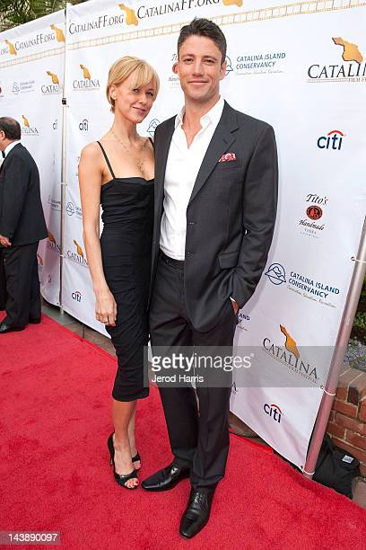Kaitlin Robinson and James Scott arrive at the opening night gala of the 2012 Catalina Film Festival at the Casino Theatre on May 4 2012 in Catalina...