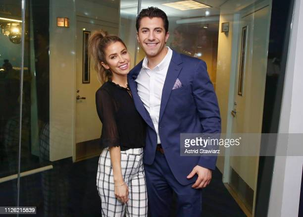 Kaitlyn Bristowe and Jason Tartick visit the SiriusXM Studios on January 30 2019 in New York City
