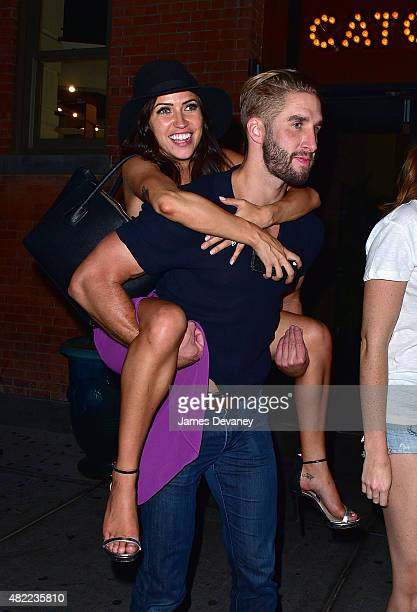 Kaitlyn Bristowe and Shawn Booth leave Catch on July 29 2015 in New York City