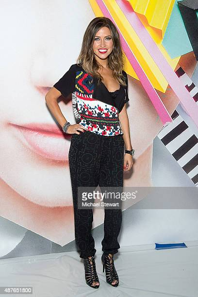 Kaitlyn Bristowe attends the Desigual fashion show during Spring 2016 New York Fashion Week at The Arc Skylight at Moynihan Station on September 10...
